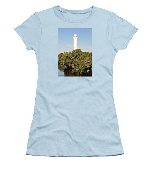 Historic Water Tower - Sulphur Springs Florida Women's T-Shirt (Junior Cut) by John Black