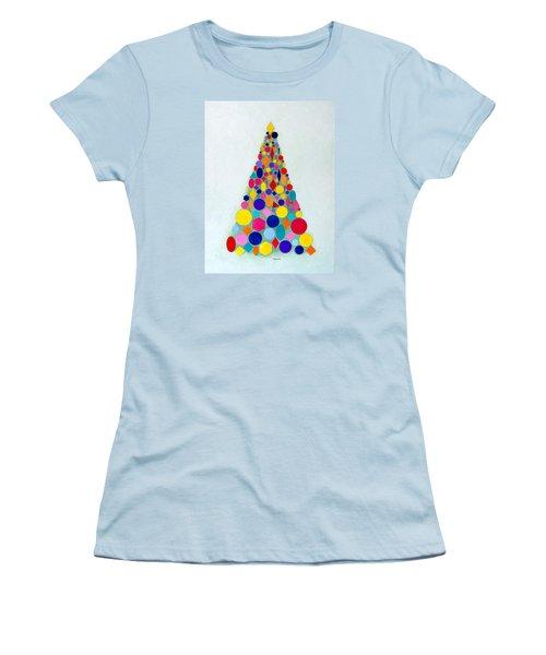 Holiday Tree #1 Women's T-Shirt (Junior Cut) by Thomas Gronowski
