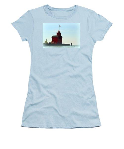 Holland Harbor Light Vignette Women's T-Shirt (Athletic Fit)