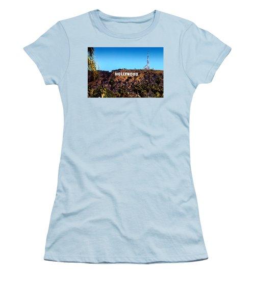 Hollywood Sign Women's T-Shirt (Junior Cut) by Az Jackson