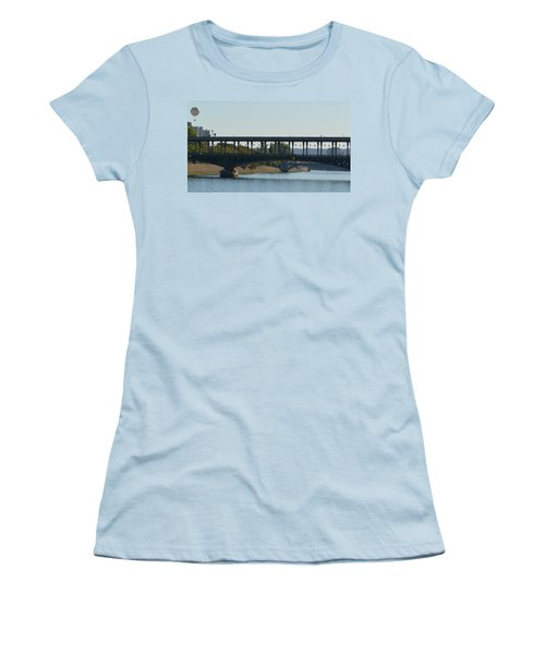 Hot Air Balloon In Paris Women's T-Shirt (Junior Cut) by Cheryl Miller