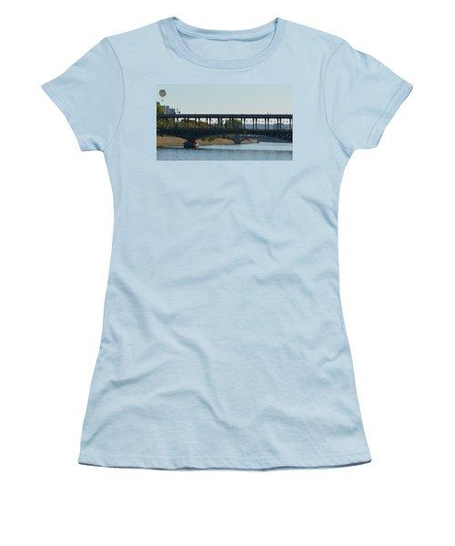 Hot Air Balloon In Paris Women's T-Shirt (Athletic Fit)