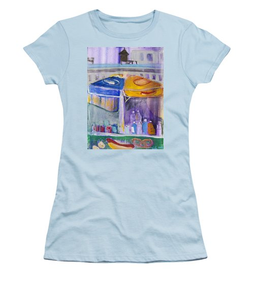 Hot Dogs  Women's T-Shirt (Junior Cut) by Leela Payne