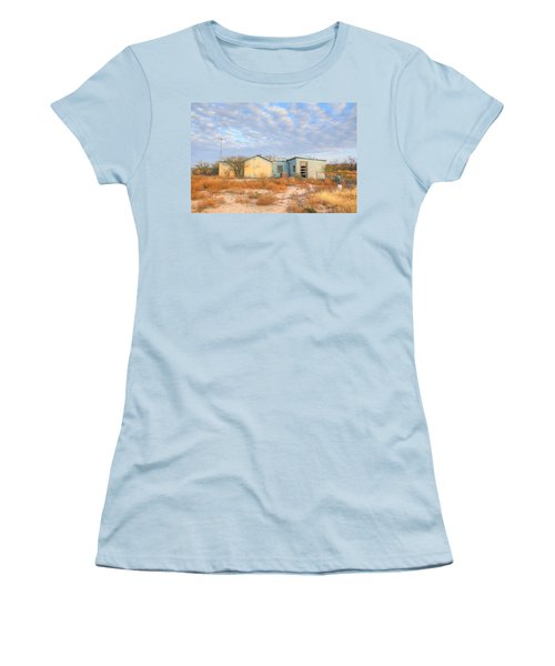 Women's T-Shirt (Junior Cut) featuring the photograph House In Ft. Stockton Iv by Lanita Williams