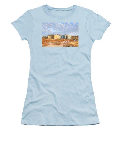 House In Ft. Stockton Iv Women's T-Shirt (Junior Cut) by Lanita Williams