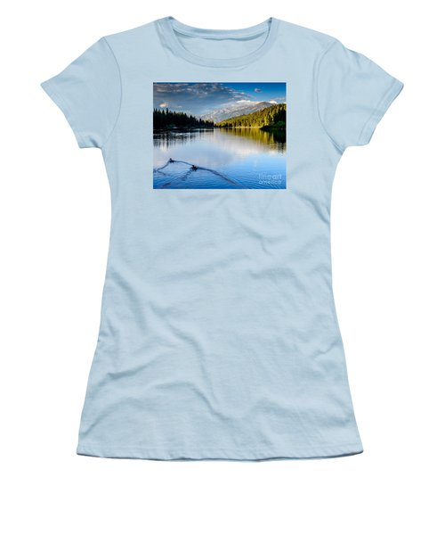 Hume Lake Evening Women's T-Shirt (Athletic Fit)