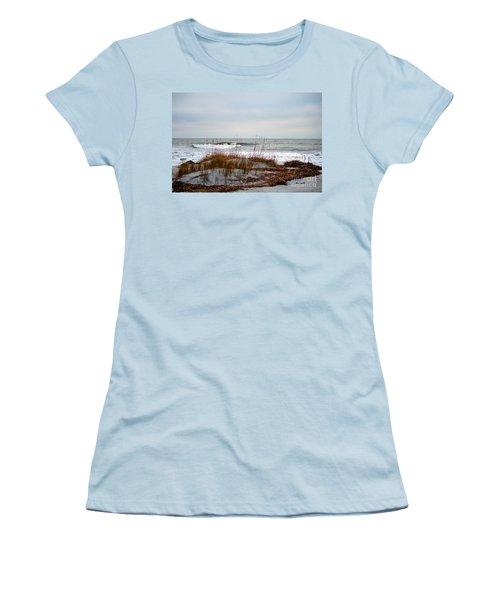 Hunting Island Beach Women's T-Shirt (Athletic Fit)