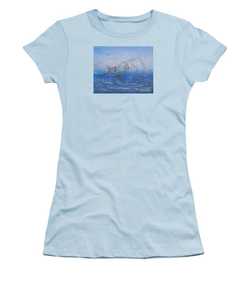 Women's T-Shirt (Junior Cut) featuring the painting If I Could Tell You by Jane  See
