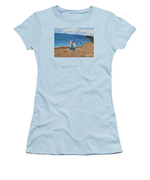 In Meditation Women's T-Shirt (Junior Cut) by Cheryl Bailey