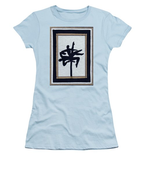 Women's T-Shirt (Junior Cut) featuring the mixed media In Perfect Balance by Barbara St Jean