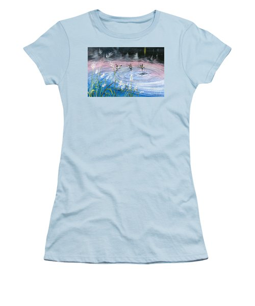 Women's T-Shirt (Junior Cut) featuring the painting In The Dusk by Melly Terpening
