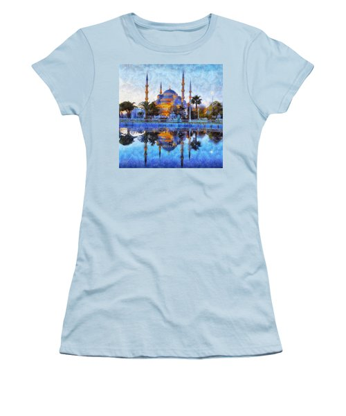 Istanbul Blue Mosque  Women's T-Shirt (Athletic Fit)