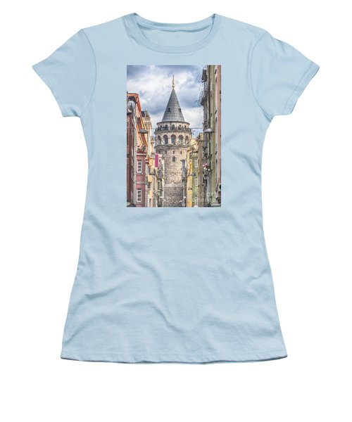 Istanbul Galata Tower Women's T-Shirt (Athletic Fit)