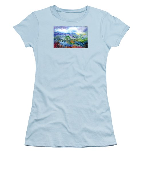 It Sometimes Rains In Tuscany Too  Women's T-Shirt (Junior Cut) by Trudi Doyle