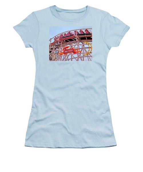 Jack Rabbit Coaster Kennywood Park Women's T-Shirt (Junior Cut) by Jim Zahniser