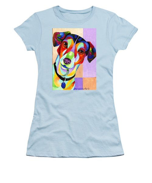 Jack Russell Terrier Women's T-Shirt (Junior Cut) by Sherry Shipley