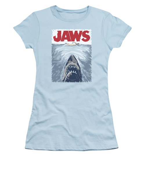 Jaws - Graphic Poster Women's T-Shirt (Athletic Fit)