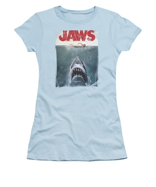 Jaws - Title Women's T-Shirt (Athletic Fit)