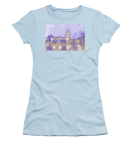 Women's T-Shirt (Junior Cut) featuring the photograph All Saints Day In Lacombe Louisiana by Luana K Perez