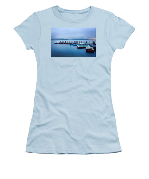 Jetty At Sun Moon Lake Women's T-Shirt (Athletic Fit)