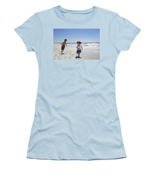 Joyful Play Of Children Women's T-Shirt (Junior Cut) by Charles Beeler