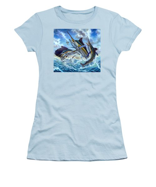 Jumping Grand Slam And Flyingfish Women's T-Shirt (Athletic Fit)