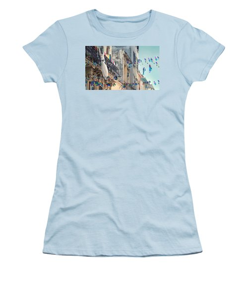 Just Like A Waving Flag.. Women's T-Shirt (Athletic Fit)