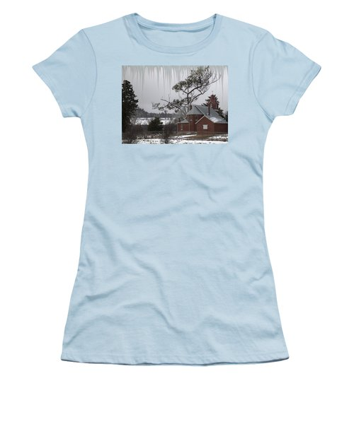 Women's T-Shirt (Junior Cut) featuring the photograph Kansas Church by Liane Wright