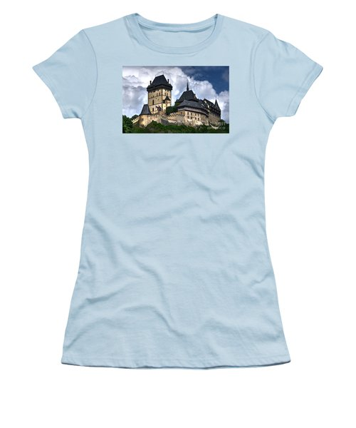Women's T-Shirt (Junior Cut) featuring the photograph Karlstejn Castle In Prague 2 by Joe  Ng