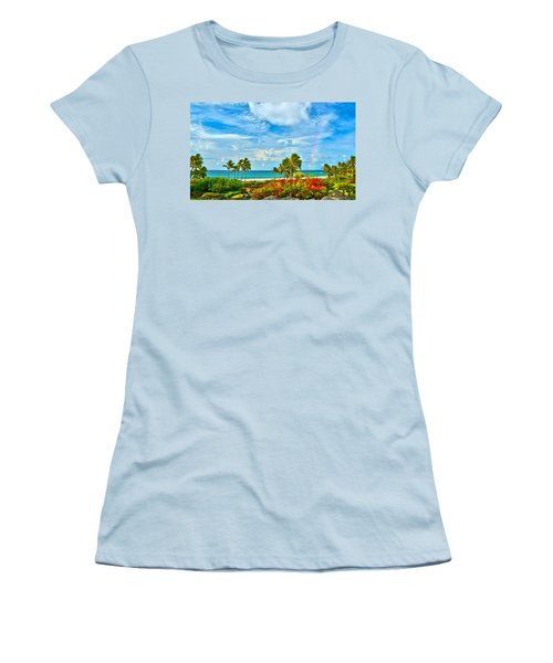 Kauai Bliss Women's T-Shirt (Junior Cut) by Marie Hicks