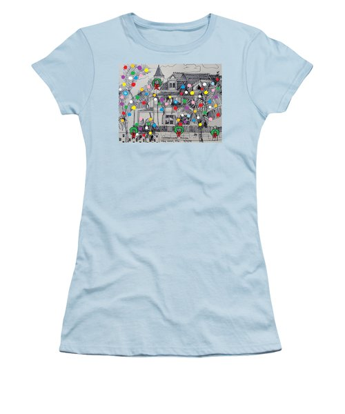 Key West Christmas Women's T-Shirt (Junior Cut) by Diane Pape