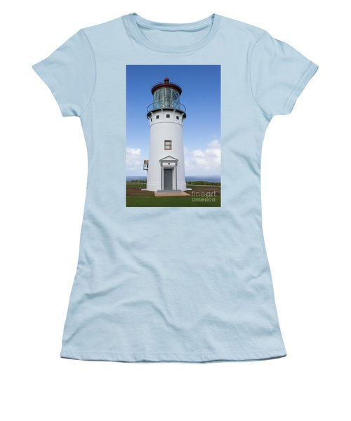 Women's T-Shirt (Junior Cut) featuring the photograph Kilauea Lighthouse by Suzanne Luft