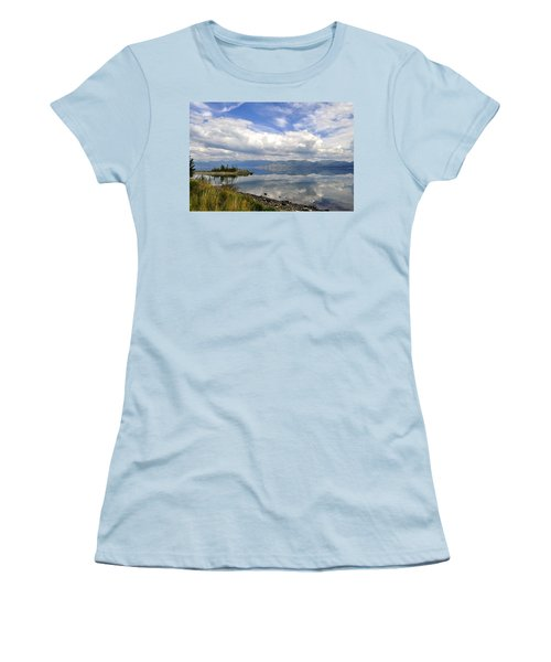 Women's T-Shirt (Junior Cut) featuring the photograph Kluane Reflections by Cathy Mahnke