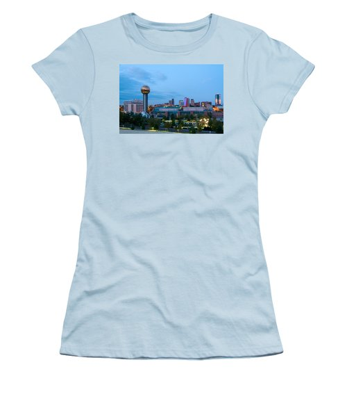Knoxville At Dusk Women's T-Shirt (Junior Cut) by Melinda Fawver