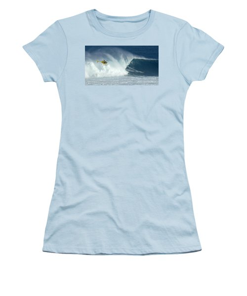 Laird Hamilton Going Left At Jaws Women's T-Shirt (Athletic Fit)