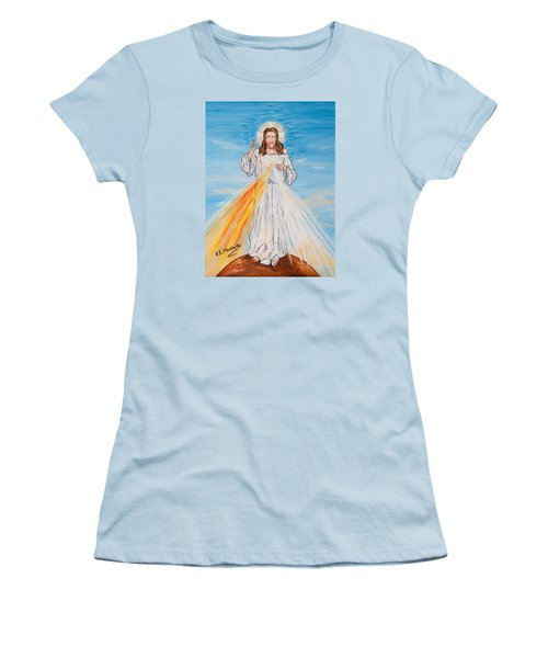 Women's T-Shirt (Junior Cut) featuring the painting L'amore by Loredana Messina