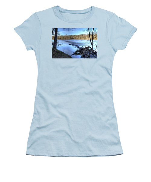 Landsford Canal-1 Women's T-Shirt (Junior Cut) by Charles Hite