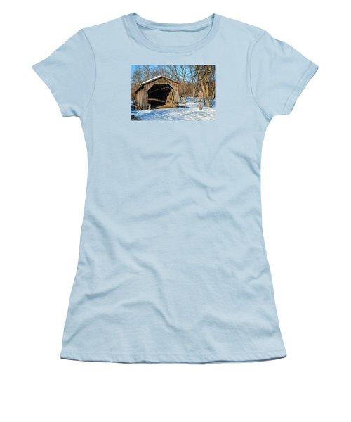 Last Covered Bridge Women's T-Shirt (Junior Cut) by Susan  McMenamin
