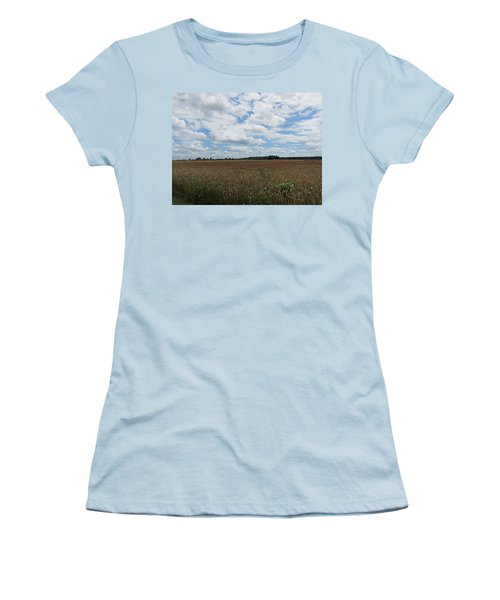 Women's T-Shirt (Junior Cut) featuring the photograph Last Of The Poppies by Pema Hou