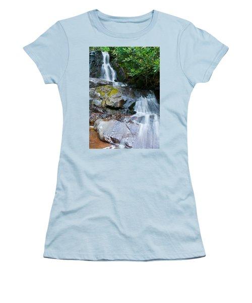 Laurel Falls Women's T-Shirt (Junior Cut) by Melinda Fawver