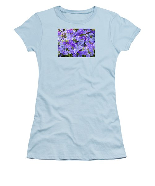 Women's T-Shirt (Junior Cut) featuring the photograph Lavender And Purple by Mariarosa Rockefeller