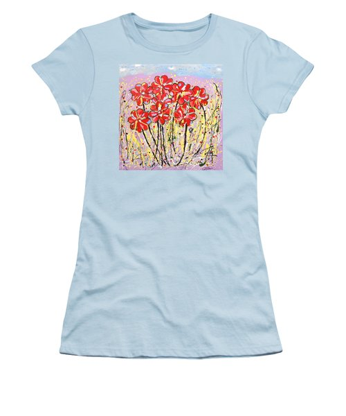 Lavender Flower Garden Women's T-Shirt (Athletic Fit)