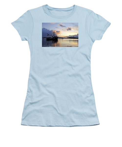 Women's T-Shirt (Junior Cut) featuring the photograph Leaving Safe Harbor by Cathy Mahnke