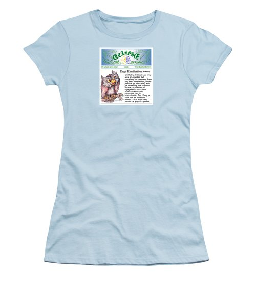 Women's T-Shirt (Junior Cut) featuring the painting Real Fake News Legal Column 1 by Dawn Sperry