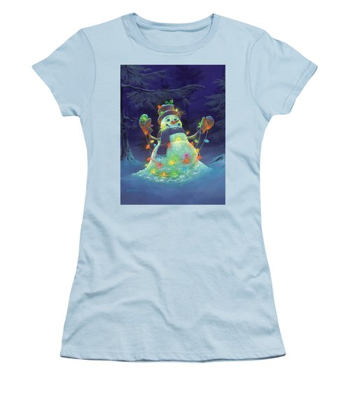 Women's T-Shirt (Junior Cut) featuring the painting Let It Glow by Michael Humphries