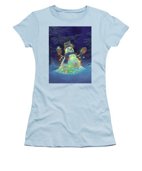 Let It Glow Women's T-Shirt (Athletic Fit)