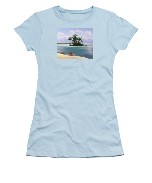 Let's Swim Out To The Island Women's T-Shirt (Junior Cut) by Jack Malloch