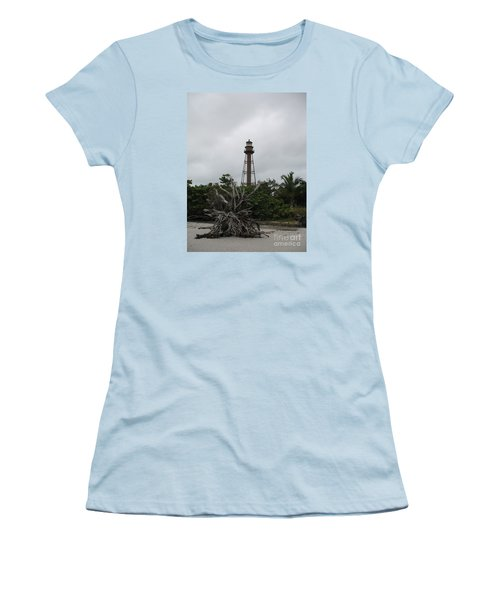 Women's T-Shirt (Junior Cut) featuring the photograph Lighthouse On Sanibel Island by Christiane Schulze Art And Photography