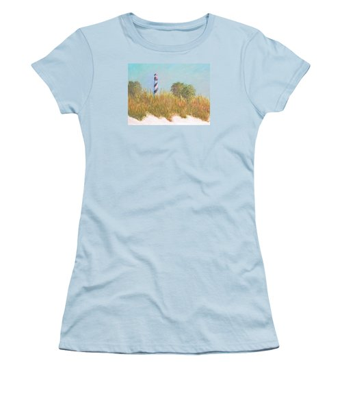 Lighthouse View From St. Augustine Beach Women's T-Shirt (Athletic Fit)