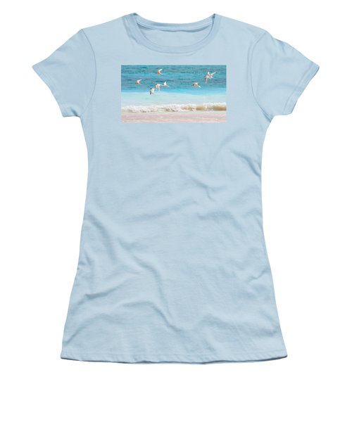 Like Birds In The Air Women's T-Shirt (Junior Cut) by Jenny Rainbow